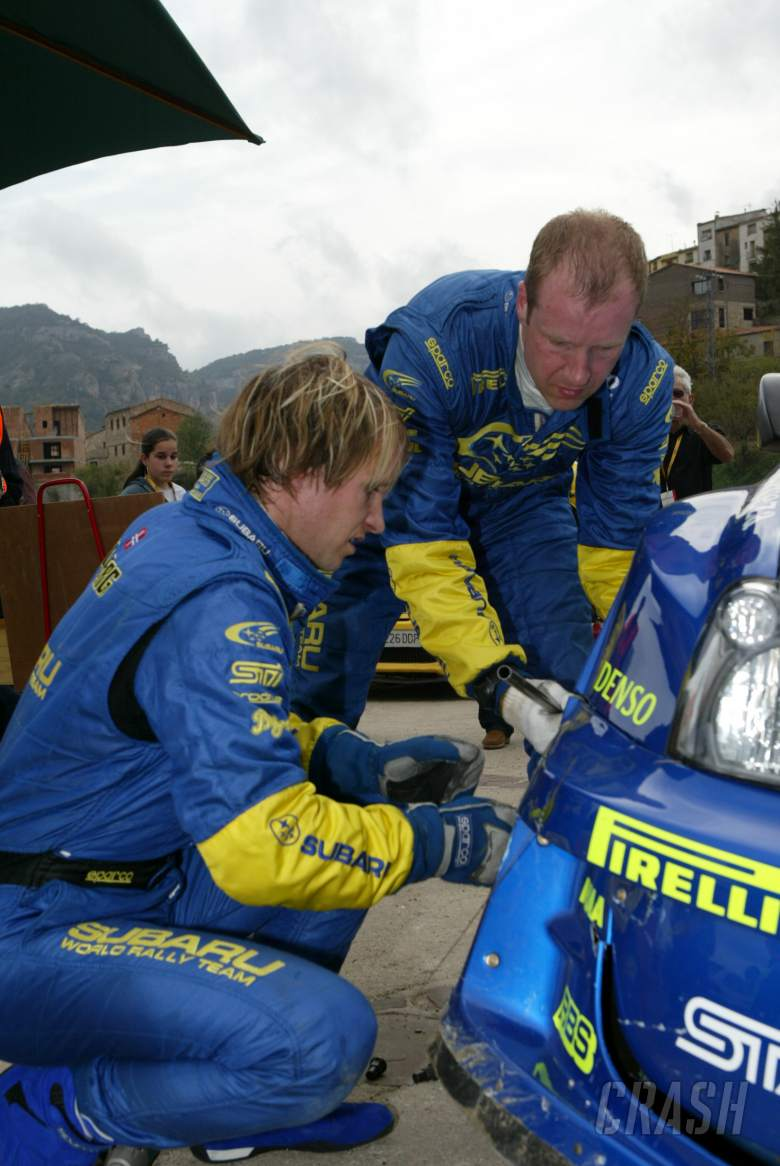 , Petter Solberg/Phil Mills crashed during SS3 of the Rally Catalunya