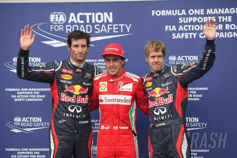 21.07.2012 - Qualifying, celebration fot the pole. 1st Fernando Alonso (ESP) Scuderia Ferrari F2012,