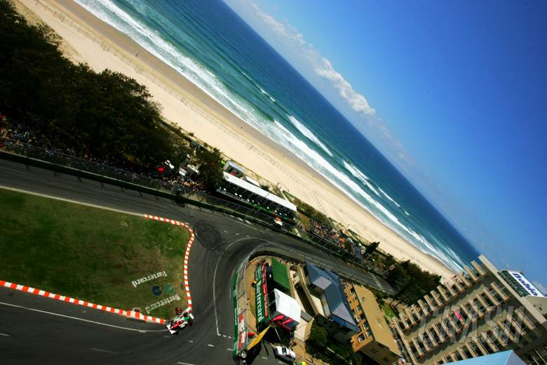 Gold Coast track and ocean