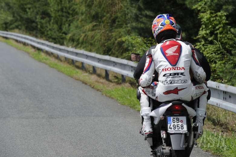 Jonathan Rea, after crash, Czech WSBK Race 1 2012