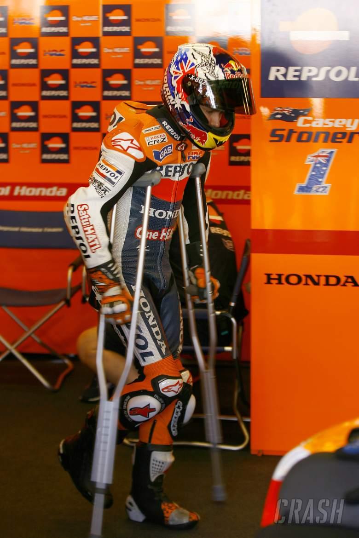 Injured Stoner, Indianapolis MotoGP 2012