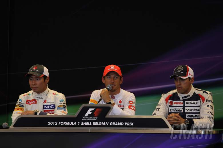 01.09.2012- Qualifying, Press conference, Kamui Kobayashi (JAP) Sauber F1 Team C31, Jenson Button (G