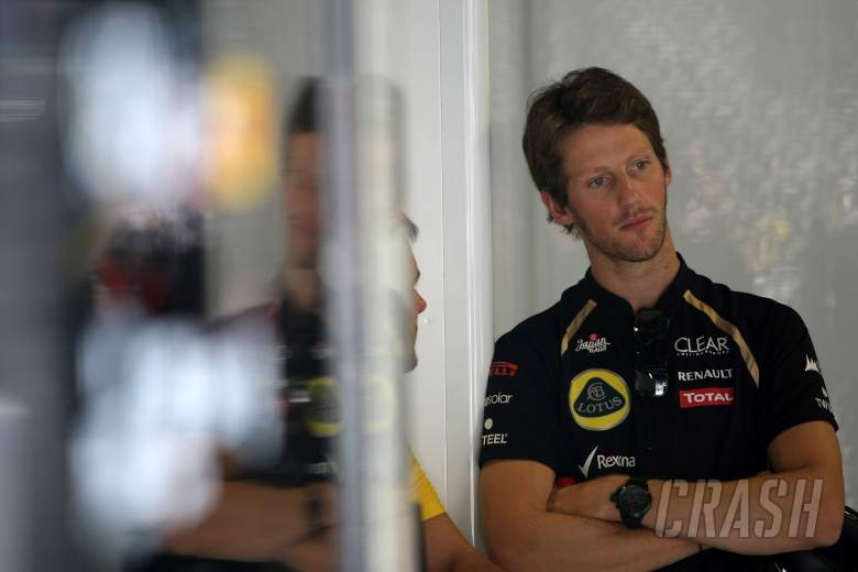 07.09.2012- Free Practice 2, Romain Grosjean (FRA) Lotus F1 Team E20