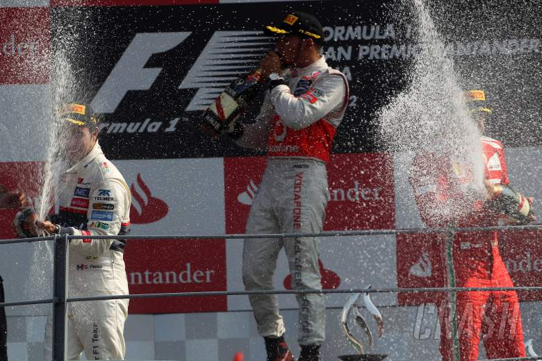 09.09.2012- Race, Sergio Perez, Lewis Hamilton and Fernando Alonso