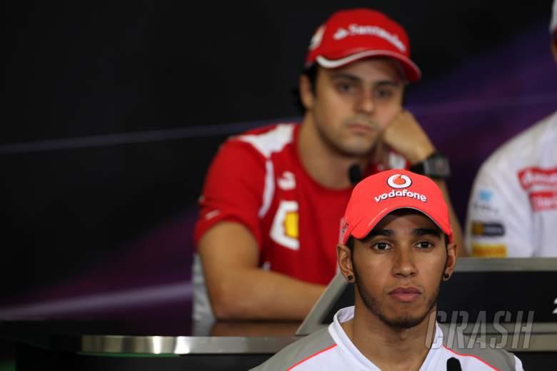 04.10.2012- Press conference, Lewis Hamilton (GBR) McLaren Mercedes MP4-27 and Felipe Massa (BRA) Sc