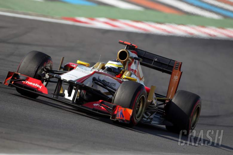 12.10.2012- Free Practice 2, Pedro de la Rosa (ESP) HRT Formula 1 Team F112