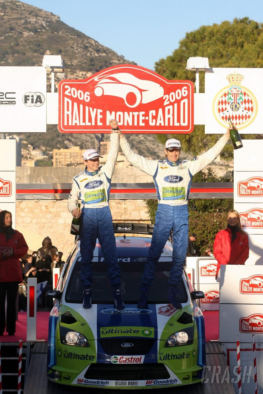 Rallye Monte Carlo winners, Marcus Gronholm and Timo Rautiainen