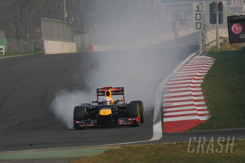 14.10.2012- Race, Sebastian Vettel (GER) Red Bull Racing RB8