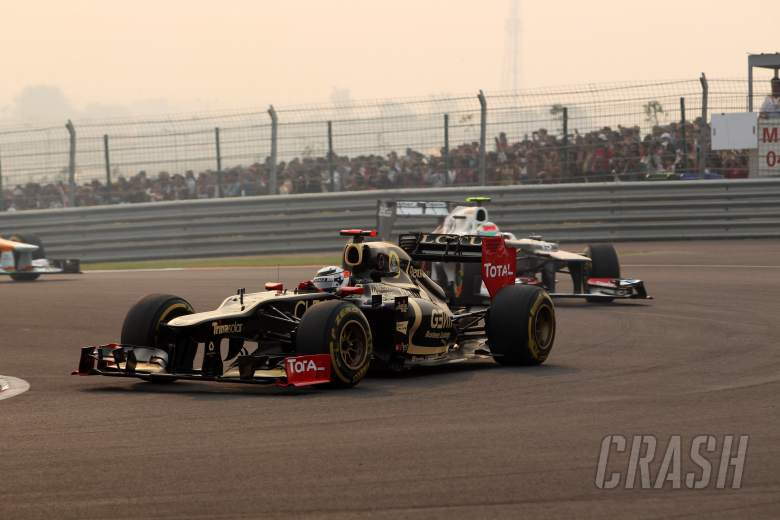 28.10.2012- Race, Kimi Raikkonen (FIN) Lotus F1 Team E20