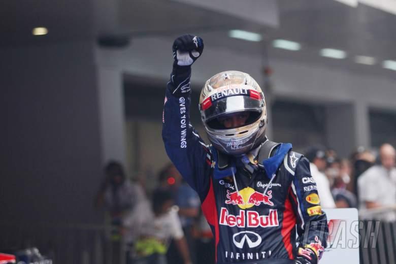 28.10.2012- Race, Sebastian Vettel (GER) Red Bull Racing RB8 race winner