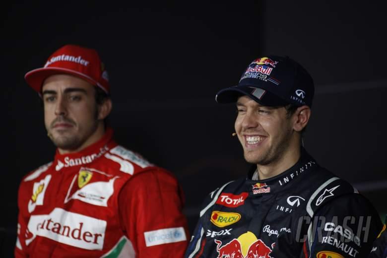 28.10.2012- Race, Press conference, Fernando Alonso (ESP) Scuderia Ferrari F2012 and Sebastian Vette