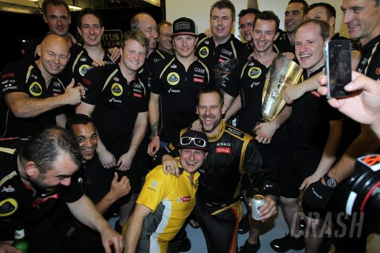 Race: Kimi Raikkonen (FIN) Lotus F1 Team E20 (race winner)