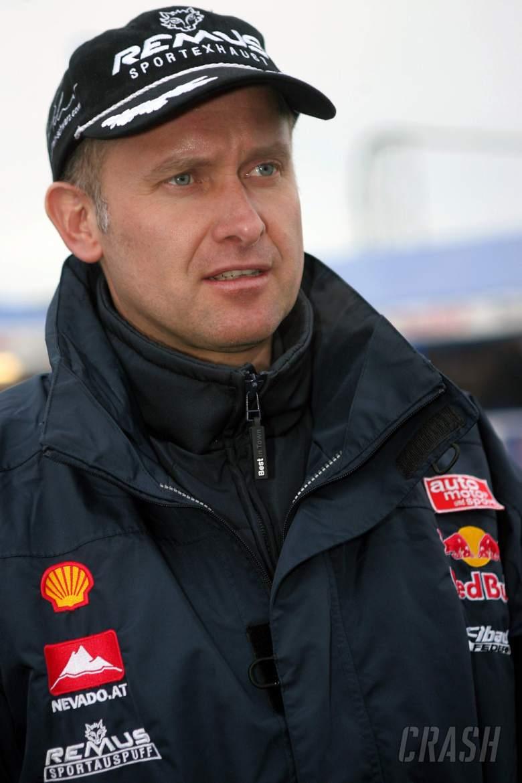 Armin Schwarz - Skoda Red Bull team director. Shakedown, 2006 Swedish Rally. Thursday, 2nd February