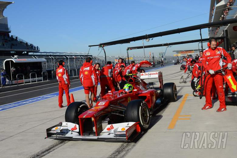 17.11.2012 - Free Practice 3, Felipe Massa (BRA) Scuderia Ferrari F2012
