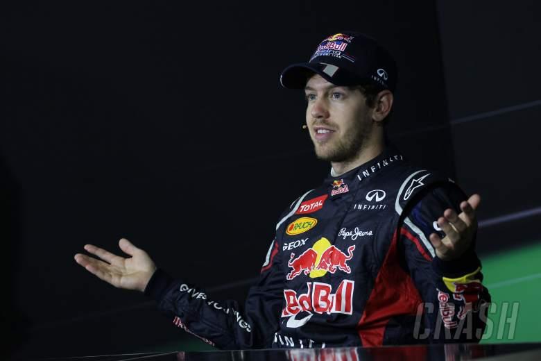 25.11.2012- Race, Press conference, Sebastian Vettel (GER) Red Bull Racing RB8