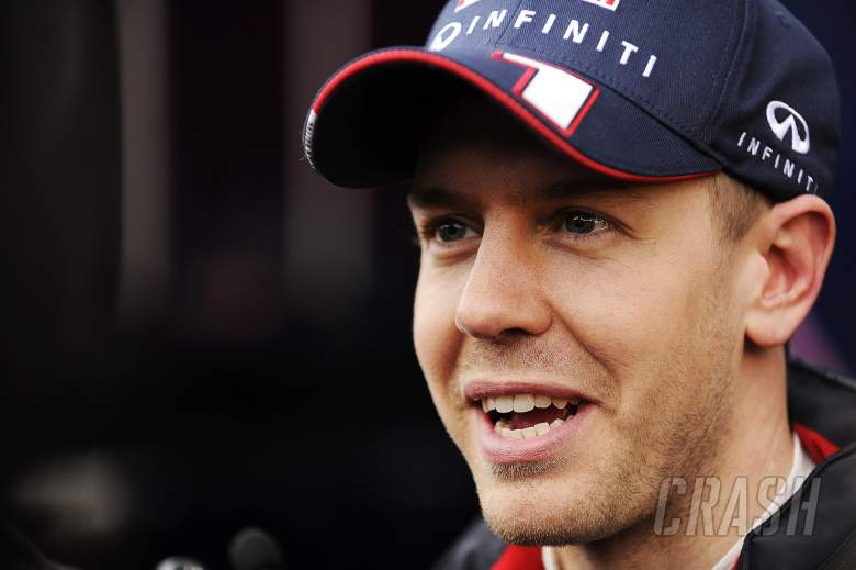 Sebastian Vettel (GER) Red Bull Racing with the media.01.03.2013.
