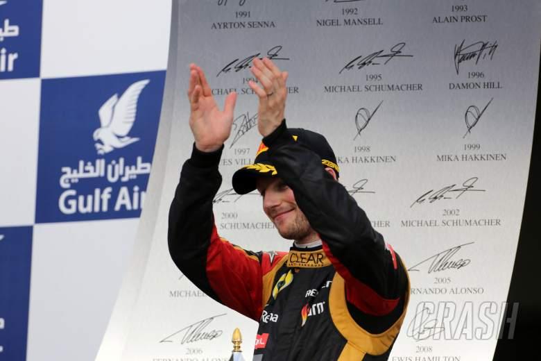 21.04.2013- Race, 3rd position Romain Grosjean (FRA) Lotus F1 Team E21