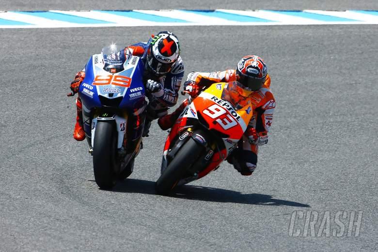 Lorenzo and Marquez, Spanish MotoGP 2013