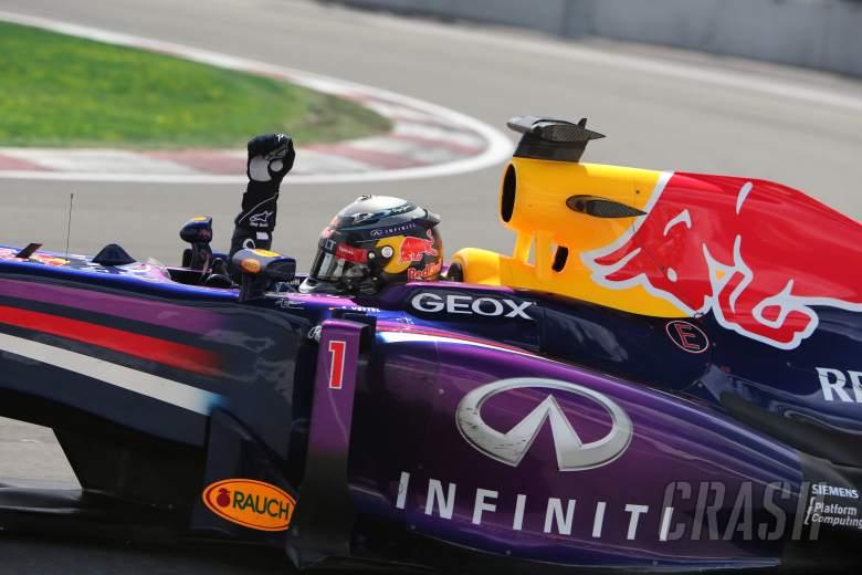 09.06.2013- Race, Sebastian Vettel (GER) Red Bull Racing RB9