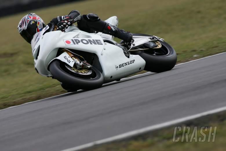 Sean Emmett Ipone Racing Kawasaki, BSB test 2006 Snetterton