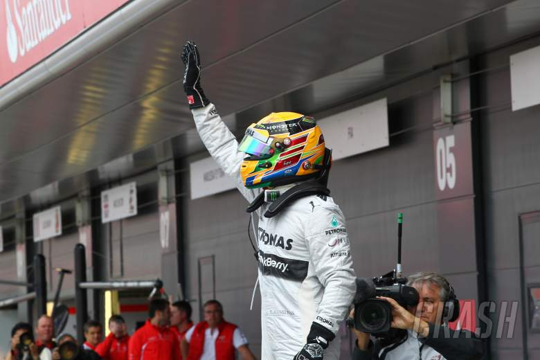 29.06.2013- Qualifying, Lewis Hamilton (GBR) Mercedes AMG F1 W04 (pole position)