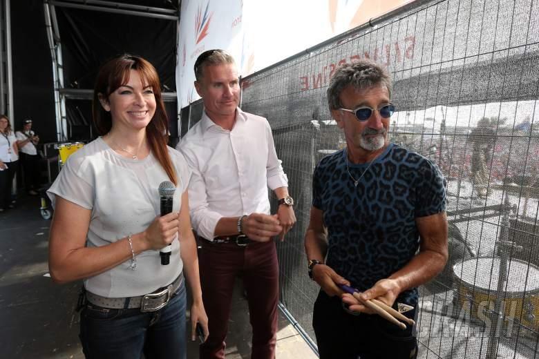 Suzi Perry, David Coulthard and Eddie Jordan - BBC presenting team