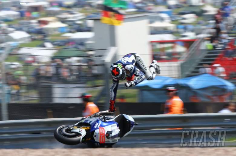 Lorenzo crash, German MotoGP 2013