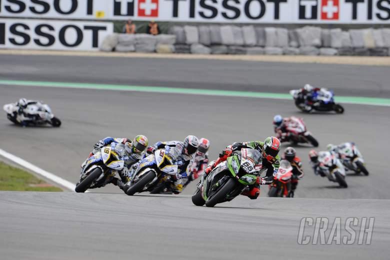 Sykes, Race start,, German WSBK Race 1 2013