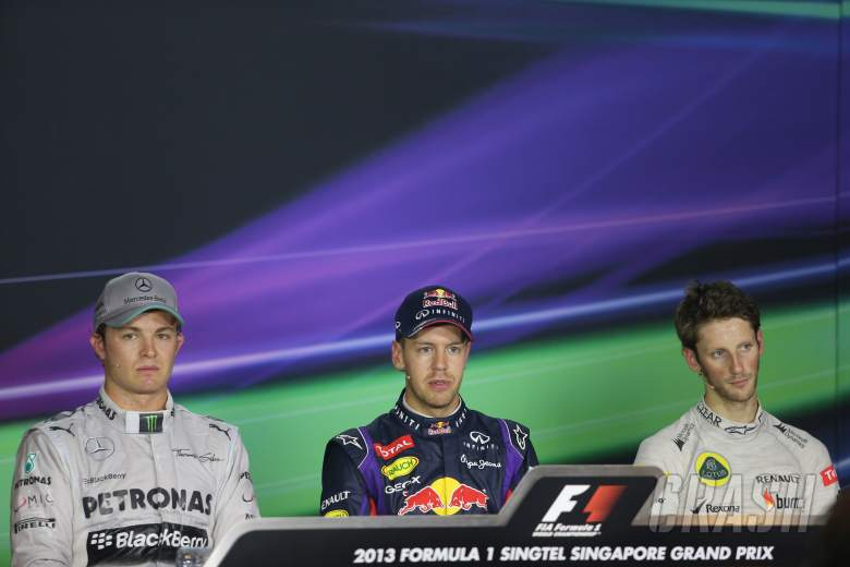 21.09.2013- After Qualifying Press Conference, pole position Sebastian Vettel (GER) Red Bull Racing