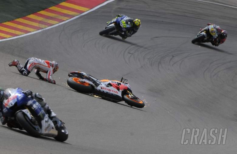 Pedrosa crash, Aragon MotoGP 2013