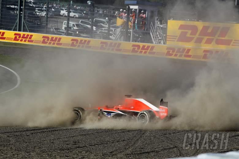 13.10.2013- Race, crash, Jules Bianchi (FRA) Marussia F1 Team MR02