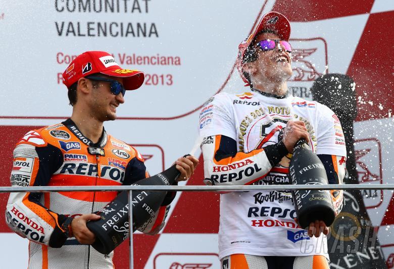 Pedrosa and Marquez, Valencia MotoGP 2013