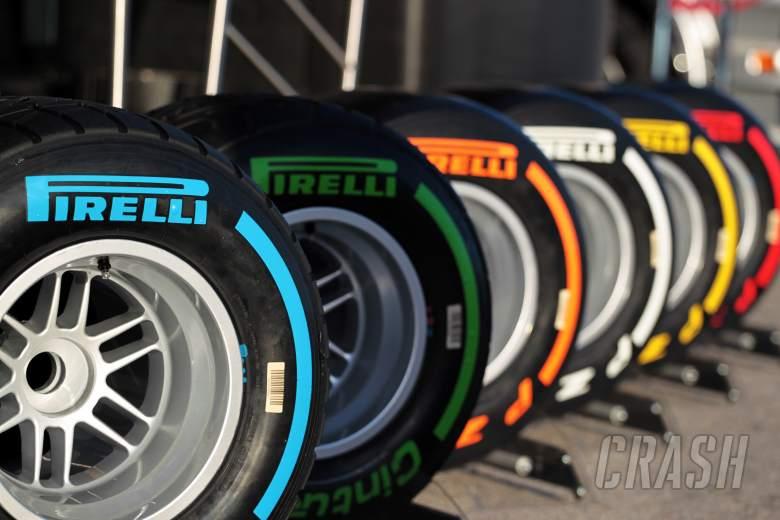 The Pirelli tyre line up.28.01.2014. Formula One Testing, Day One, Jerez, Spain.