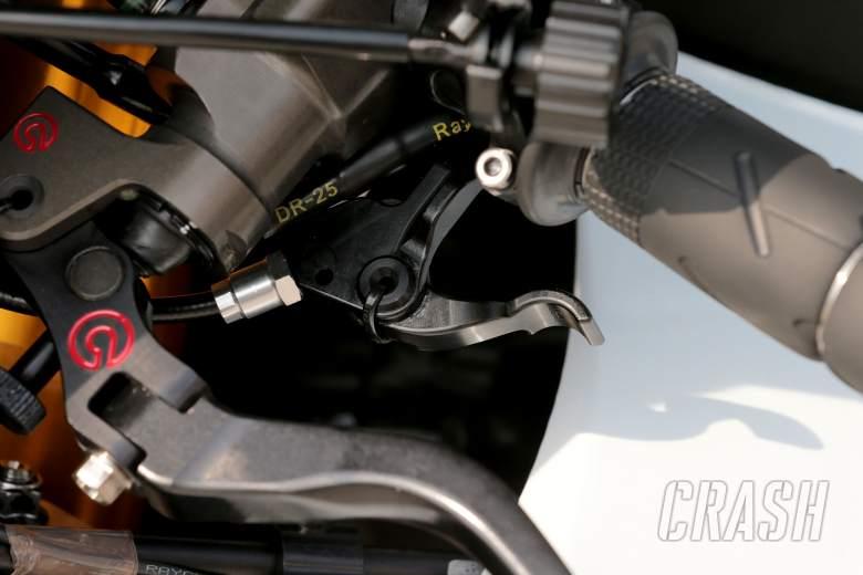 Rossi's Yamaha clutch levers, Sepang MotoGP test, 4-6 February 2014