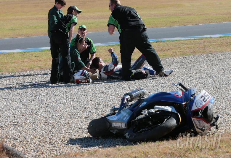 Barrier crash, Australian WSBK test and race, 2014
