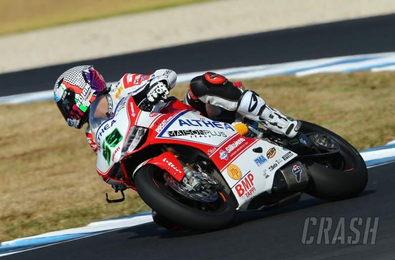 Canepa, Australian WSBK test and race, 2014
