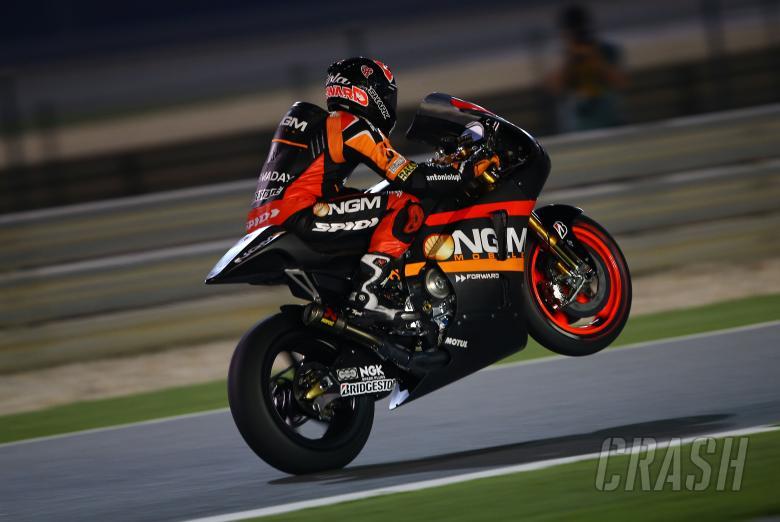 Aleix Espargaro wheelies, Qatar MotoGP test, March 2014