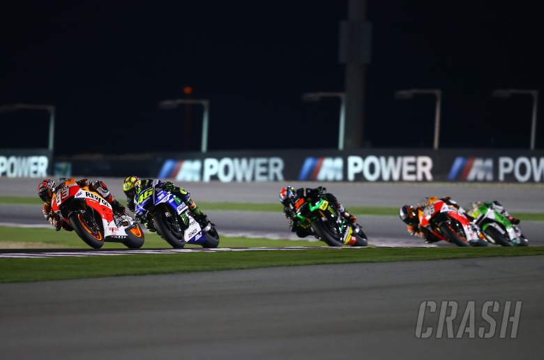Marquez and Rossi, Qatar MotoGP 2014