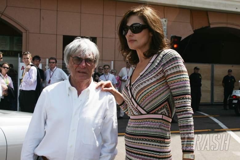 26.05.2006 Monte Carlo, Monaco, . Bernie Ecclestone (GBR) with his wife Slavica Ecclestone (SLO) - F