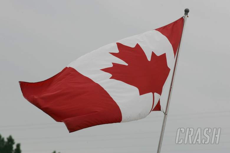 22.06.2006 Montreal, Canada, Canadian Flag flies in the paddock - Formula 1 World Championship, Rd 9