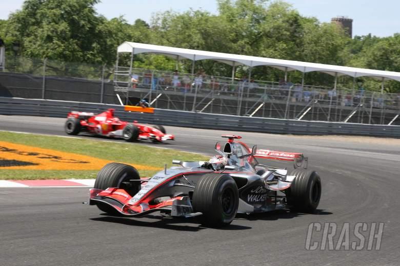25.06.2006 Montreal, Canada, Kimi Raikkonen (FIN), Rkken, McLaren Mercedes, MP4-21 - Formula 1 W