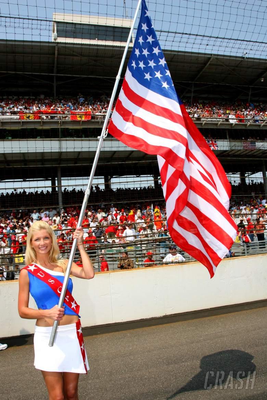 02.07.2006 Indianapolis, USA, USA GP grid girl - Formula 1 World Championship, Rd 10, United States