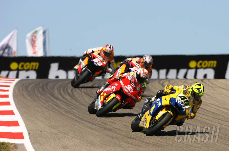 Rossi, Melandri, Pedrosa, Hayden, German MotoGP, 2006
