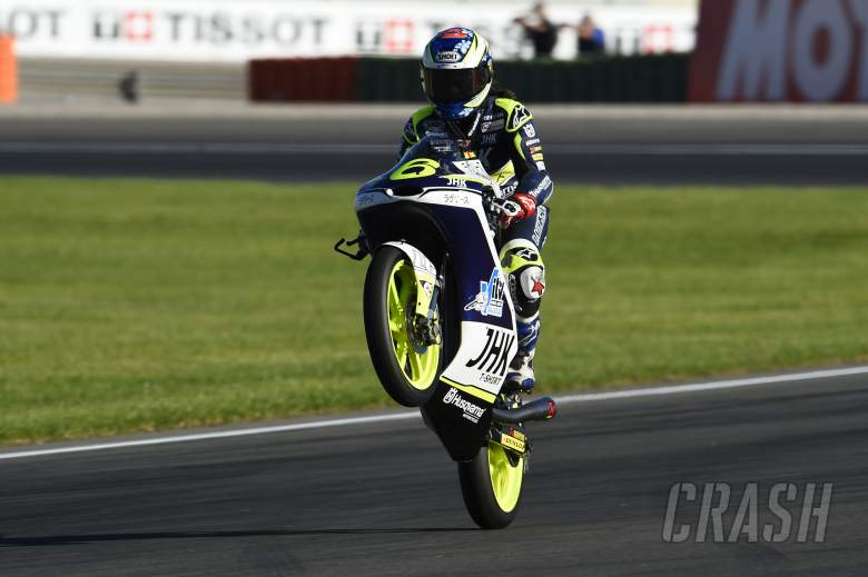 Moto3: Herrera, Laglisse stage late return