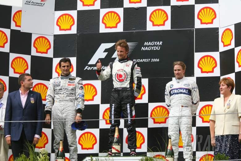 06.08.2006 Budapest, Hungary, 1st place Jenson Button (GBR), Honda Racing F1 Team, 2nd place Pedro d