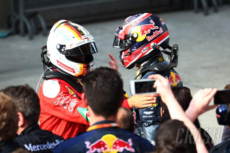 "Vettel slams ""suicidal"" Kvyat for driving ""like a crazy"""