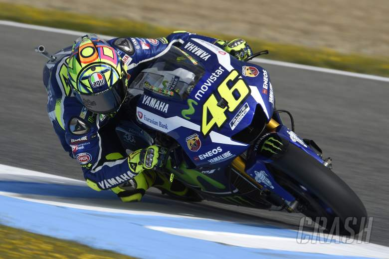 Valentino Rossi storms to pole at Jerez