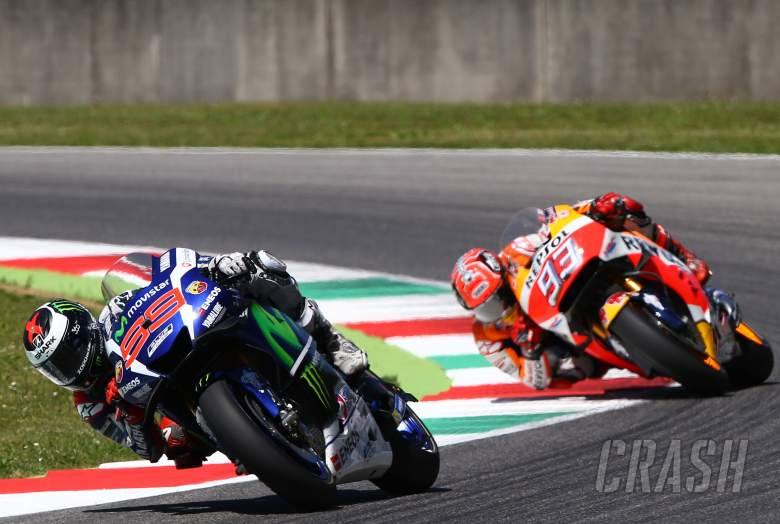 Lorenzo out-muscles Marquez, Rossi DNF
