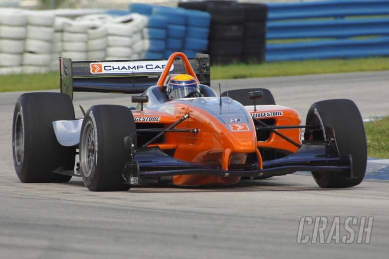Roberto Moreno puts the new Panoz DP01 Champ Car through its paces at Sebring