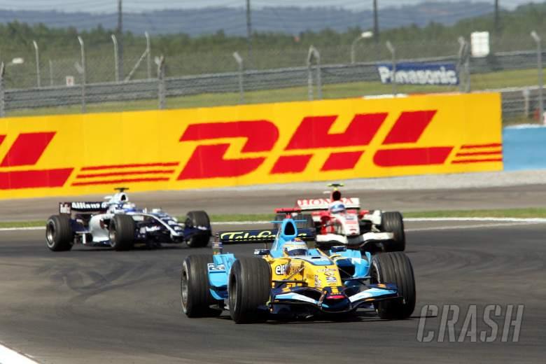 25.08.2006 Istanbul, Turkey, Fernando Alonso (ESP), Renault F1 Team and DHL advertising - Formula 1